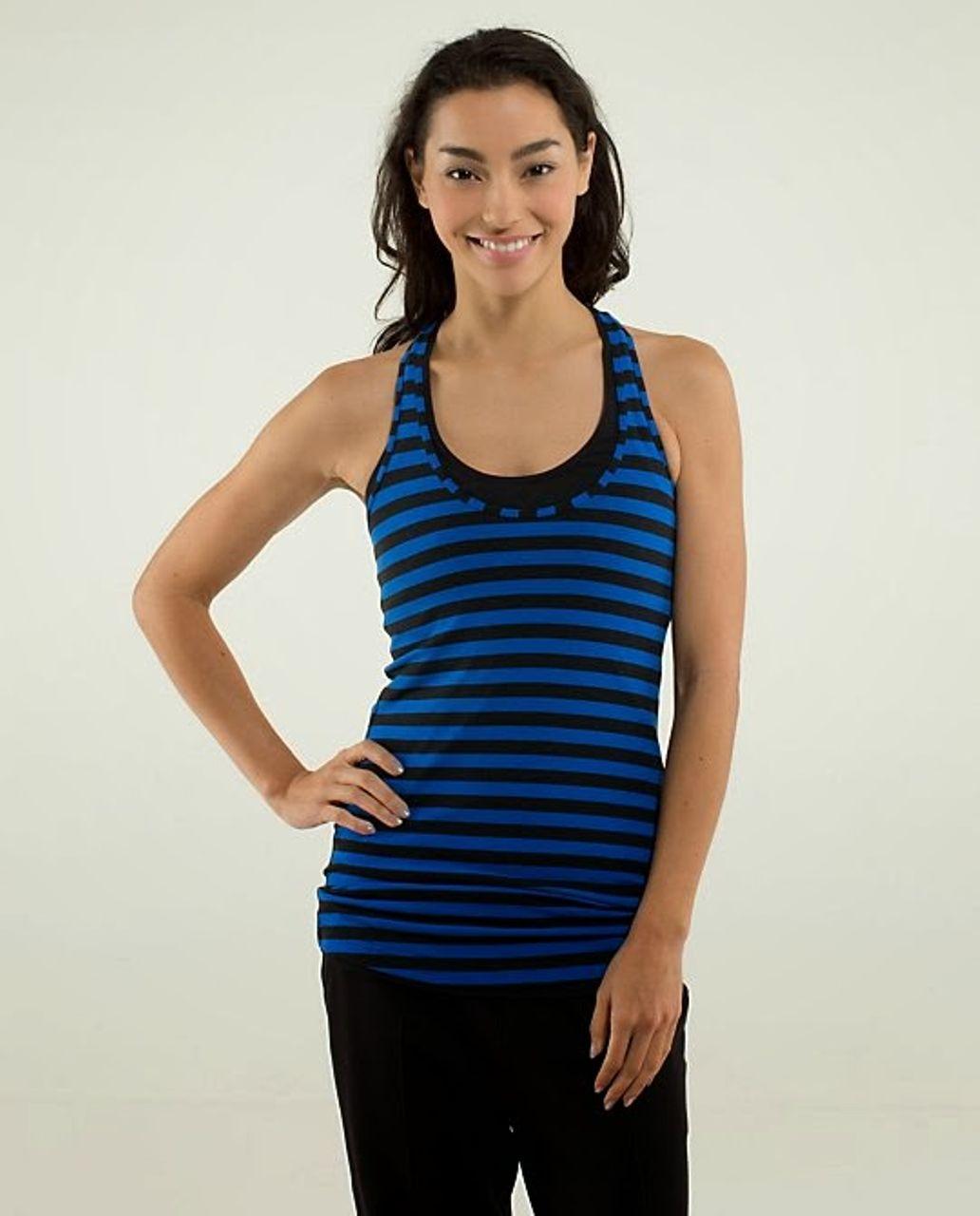 Lululemon Cool Racerback - Apex Stripe Baroque Blue