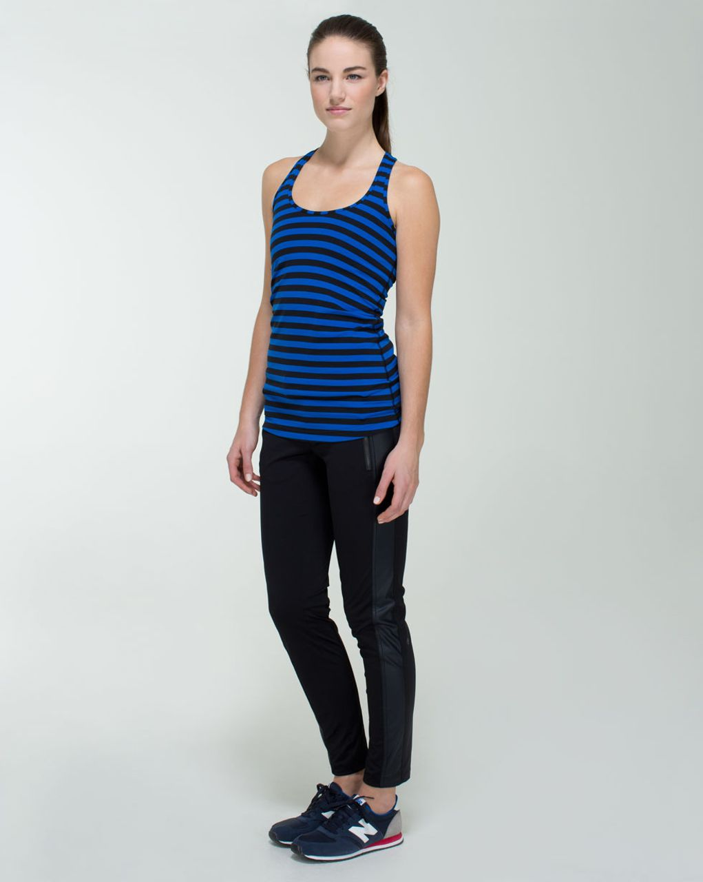 Lululemon Cool Racerback - Apex Stripe Baroque Blue