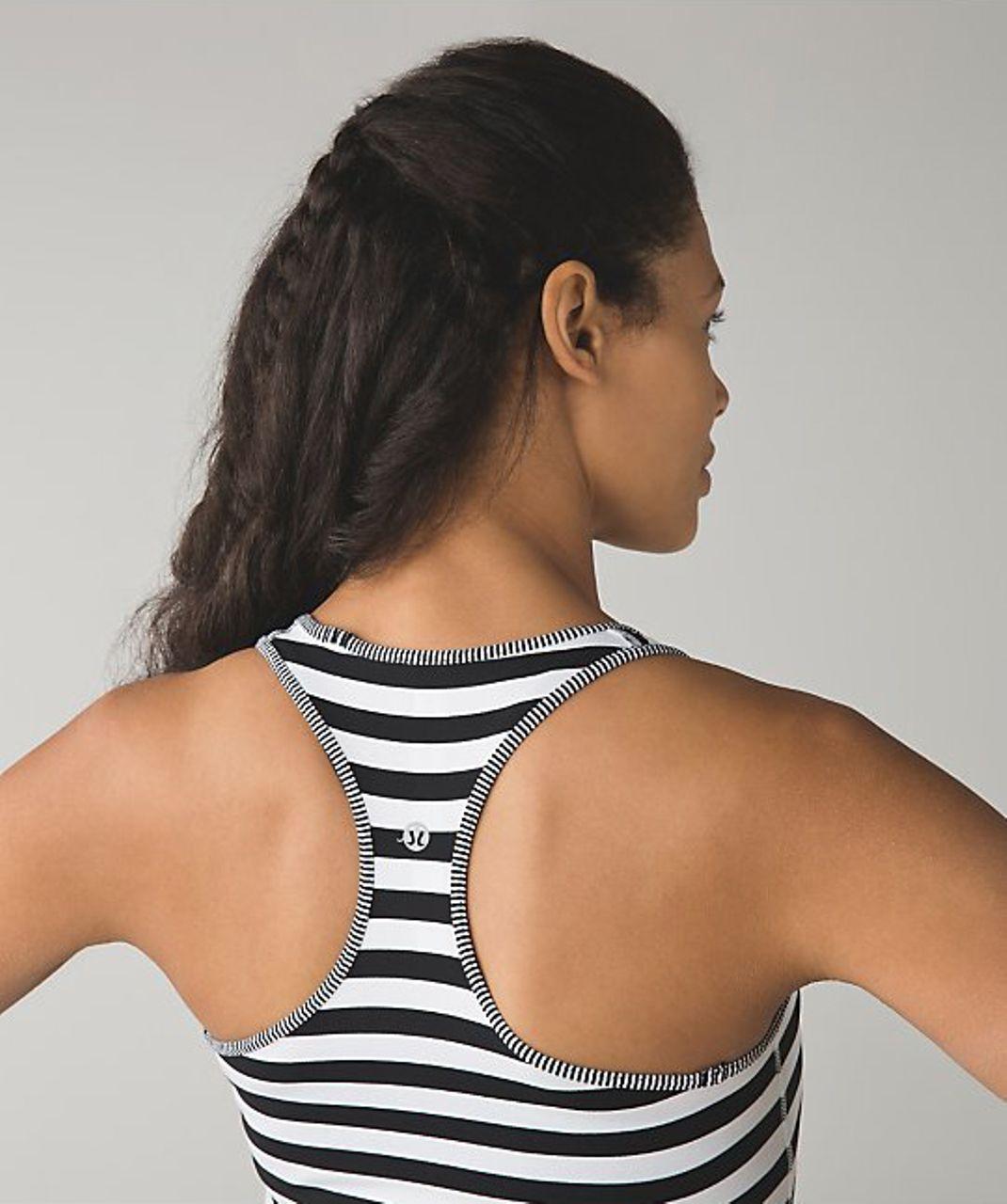 Lululemon Cool Racerback - Apex Stripe Black White