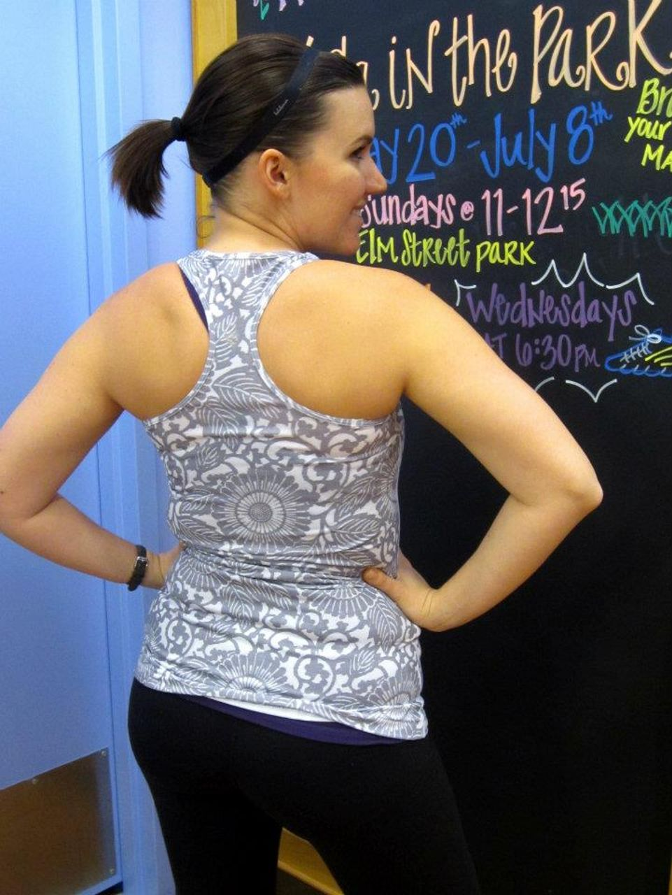 Lululemon Cool Racerback - Beachy Floral Fossil