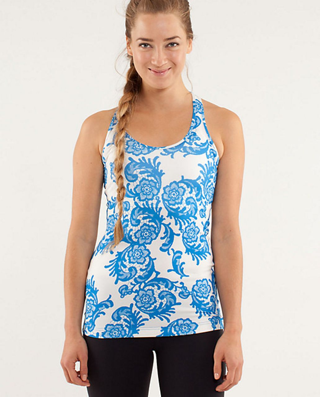 Lululemon Cool Racerback - Laceoflage Beaming Blue