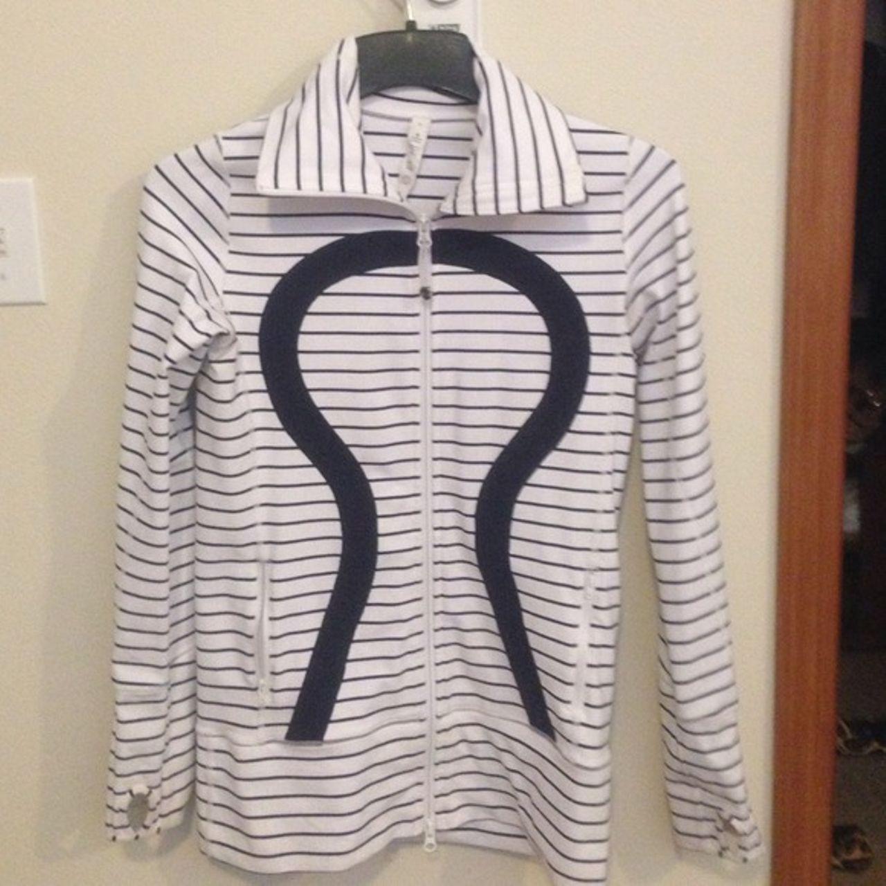 Lululemon In Stride Jacket - Quiet Stripe White Deep Indigo /  Deep Indigo