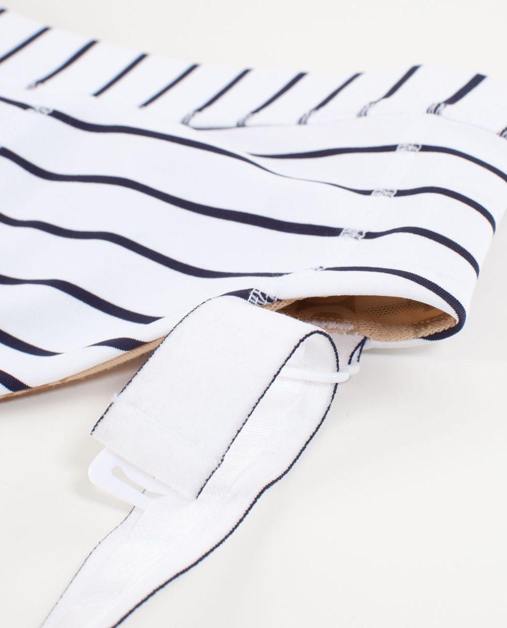 Lululemon Adjust Me Bra - Quiet Stripe White Deep Indigo