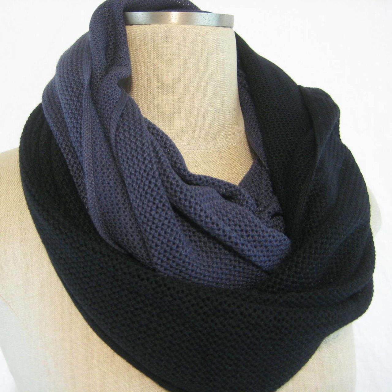 Lululemon Om Onward Scarf - Cadet Blue / Black - lulu fanatics