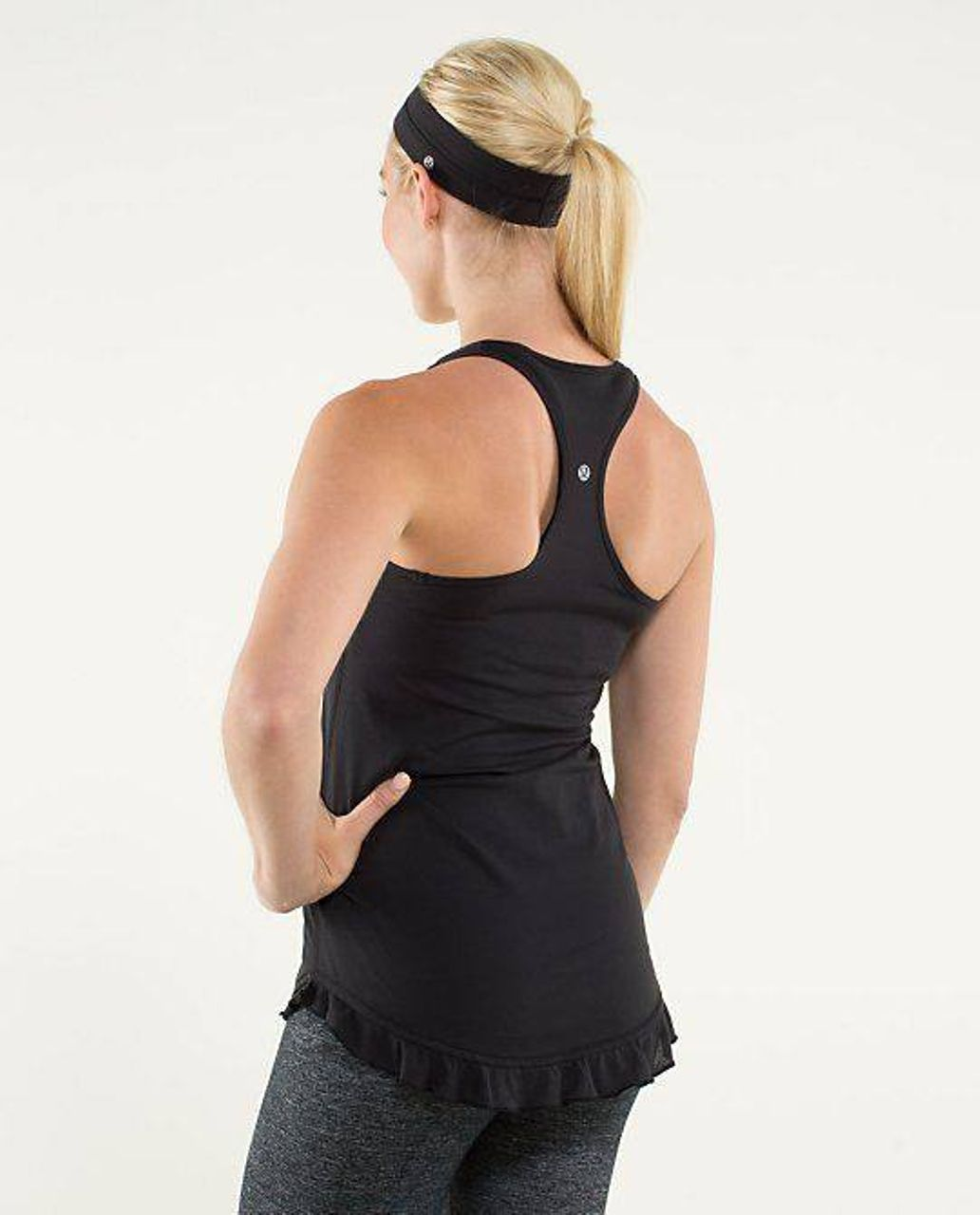 Lululemon Cool Racerback *Ruffled Up - Black