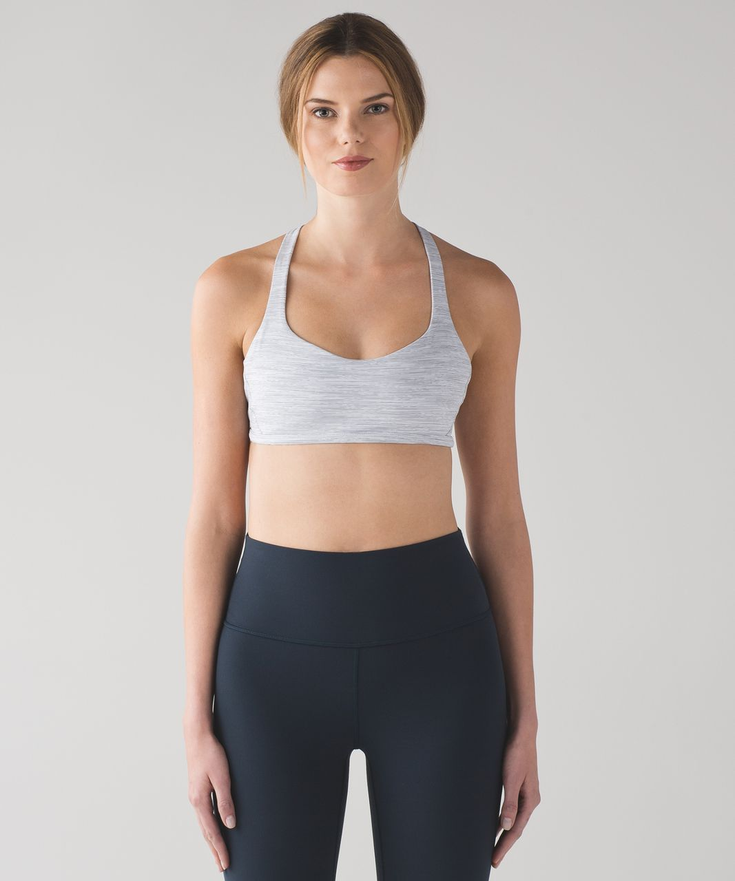 Lululemon Free To Be Zen Bra - Wee Are From Space Alpine White Battleship