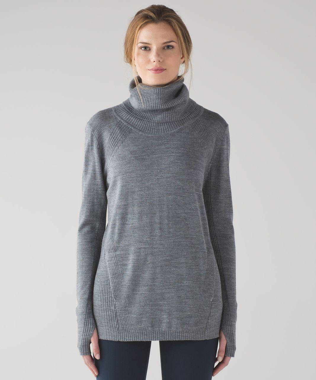 Lululemon Sweat And Savasana Sweater Heathered Medium Grey
