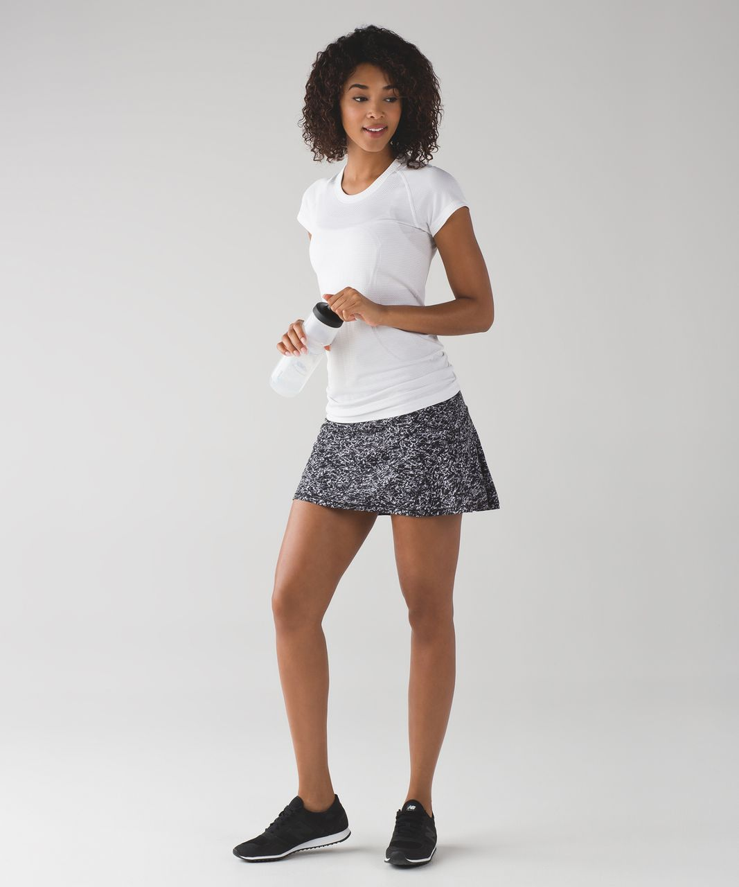 "Lululemon Circuit Breaker Skirt (Regular) (13"") - Iced Wave White Black / Ice Breaker White Black"