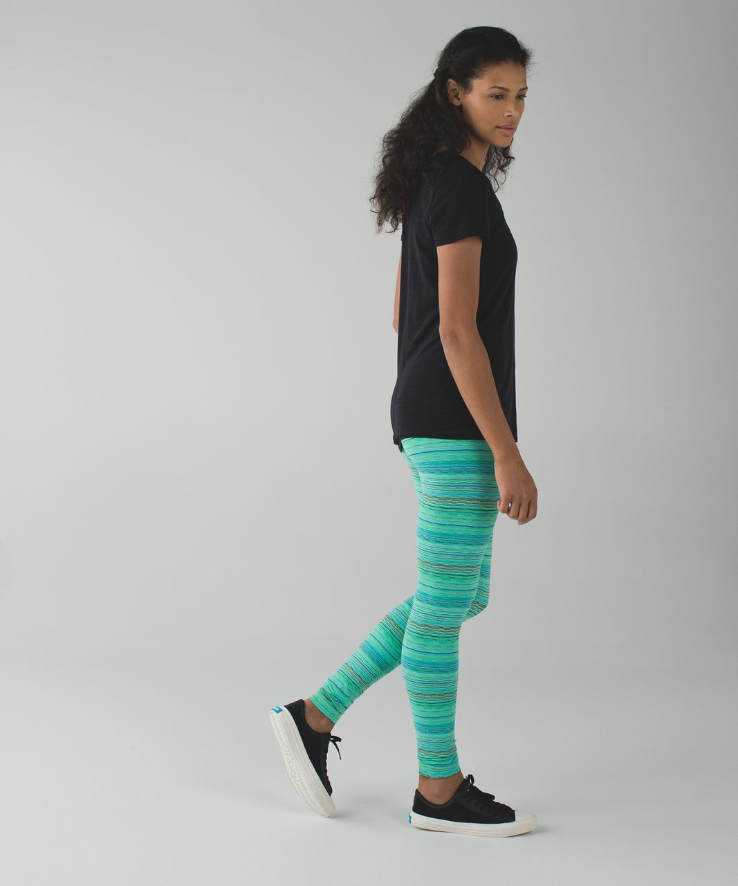 Lululemon Wunder Under Pant III - Space Dye Twist 6 Colour Dragonfly Naval Blue