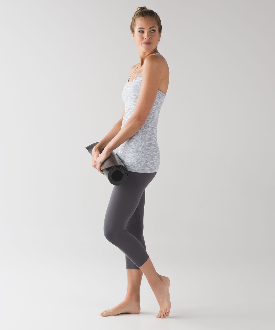 Lululemon Power Y Tank - Wee Are From Space Ice Grey Alpine White
