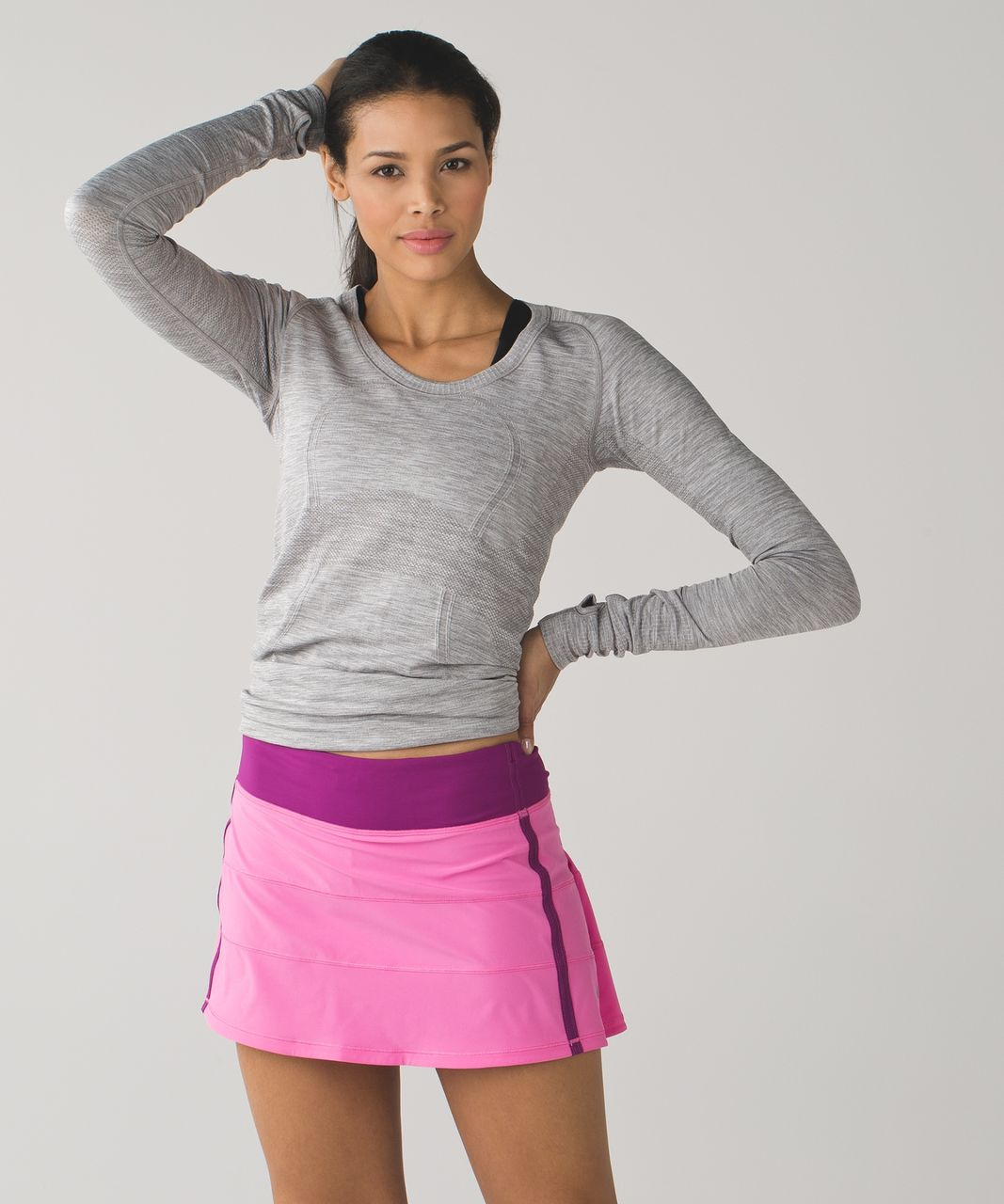 Lululemon Pace Rival Skirt II (Regular) - Pink Paradise / Regal Plum