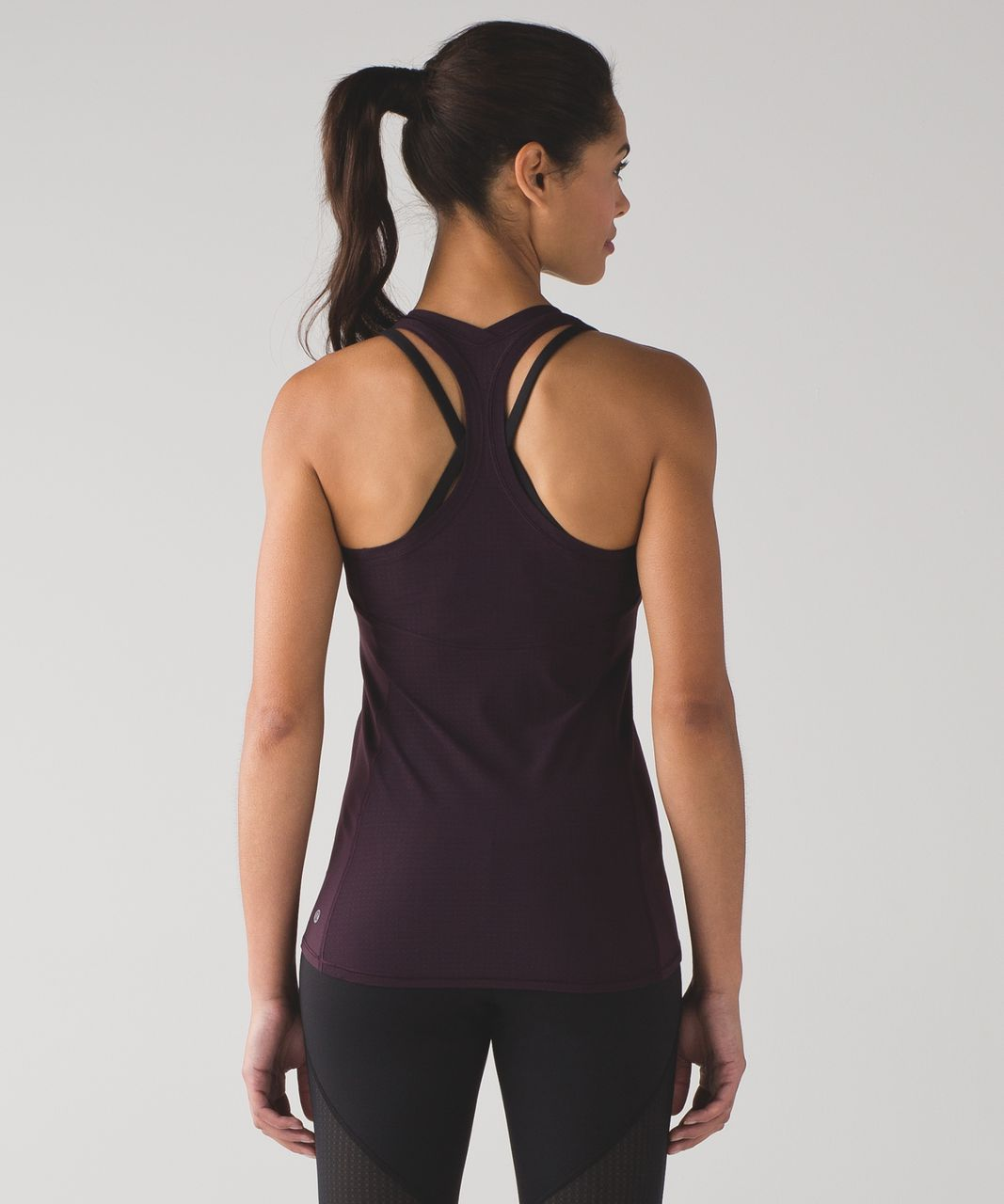 Lululemon Cool Racerback II Deep Breath - Black Cherry