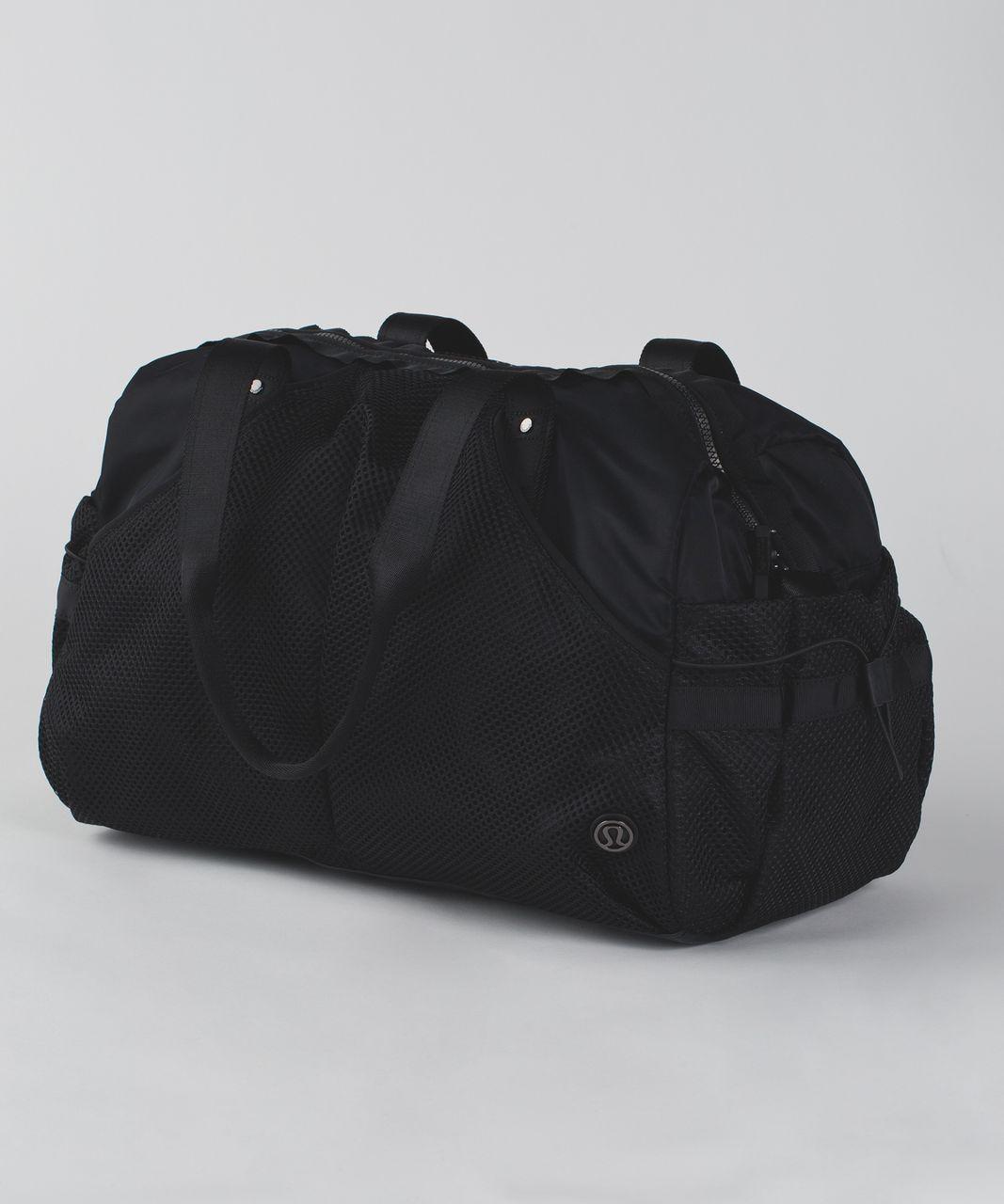 Lululemon Extra Mile Duffel (Mesh) - Black / Black