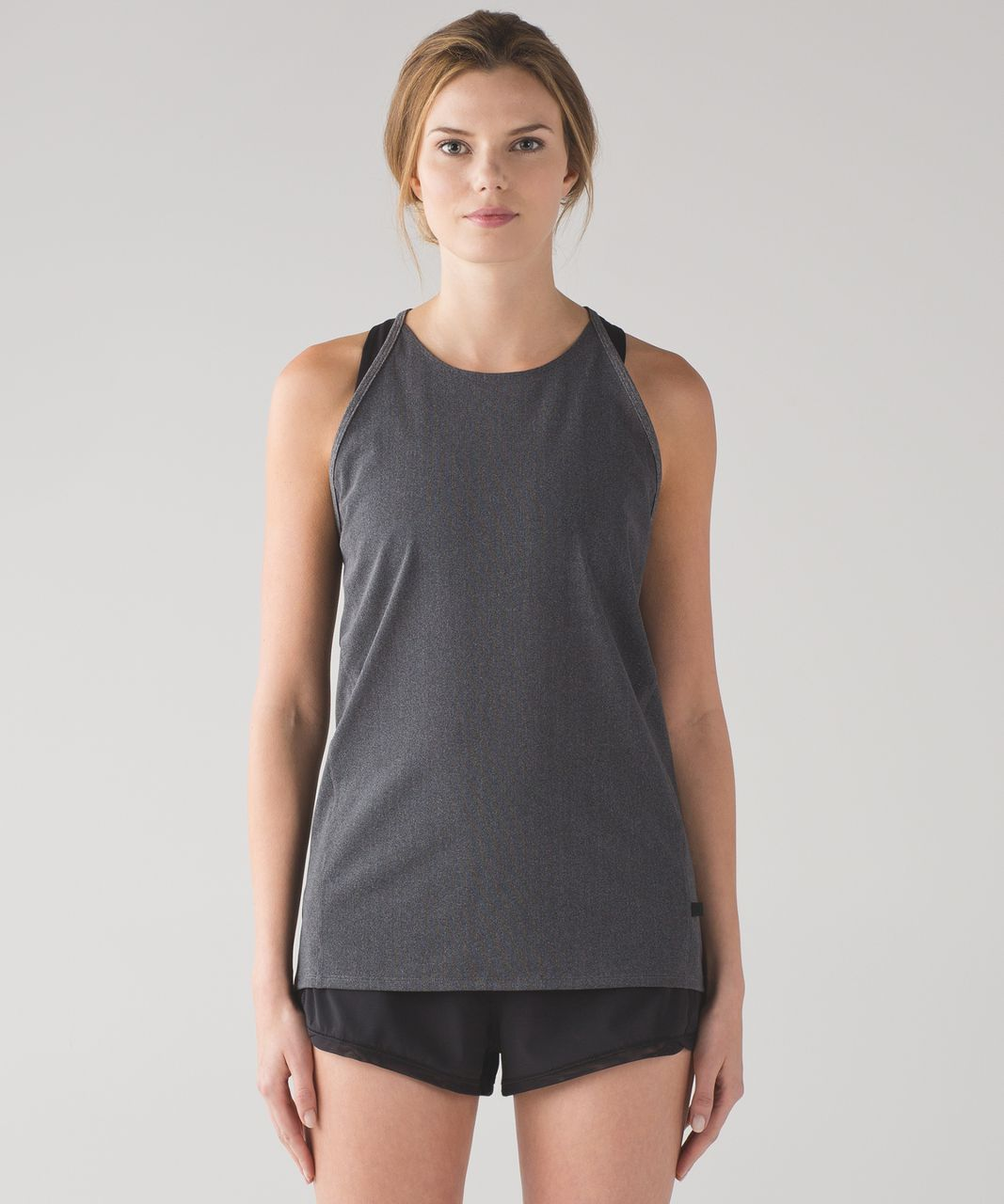 Lululemon Featherlight Singlet Mesh - Heathered Black