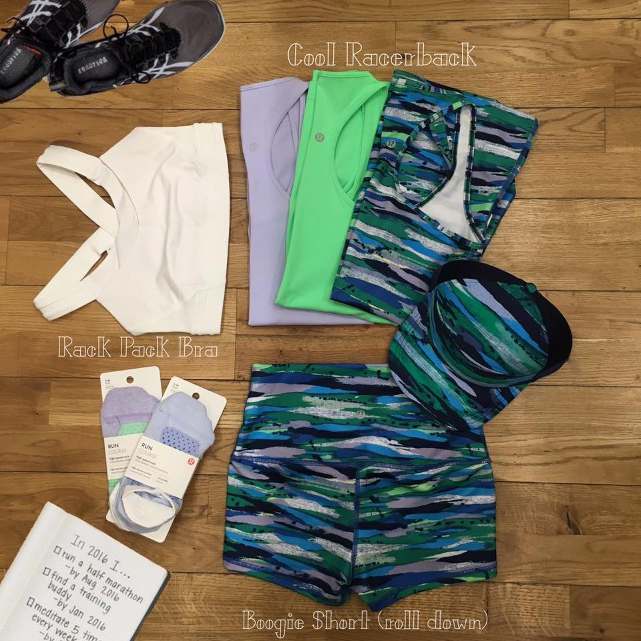 Lululemon Cool Racerback - Seven Wonders Multi
