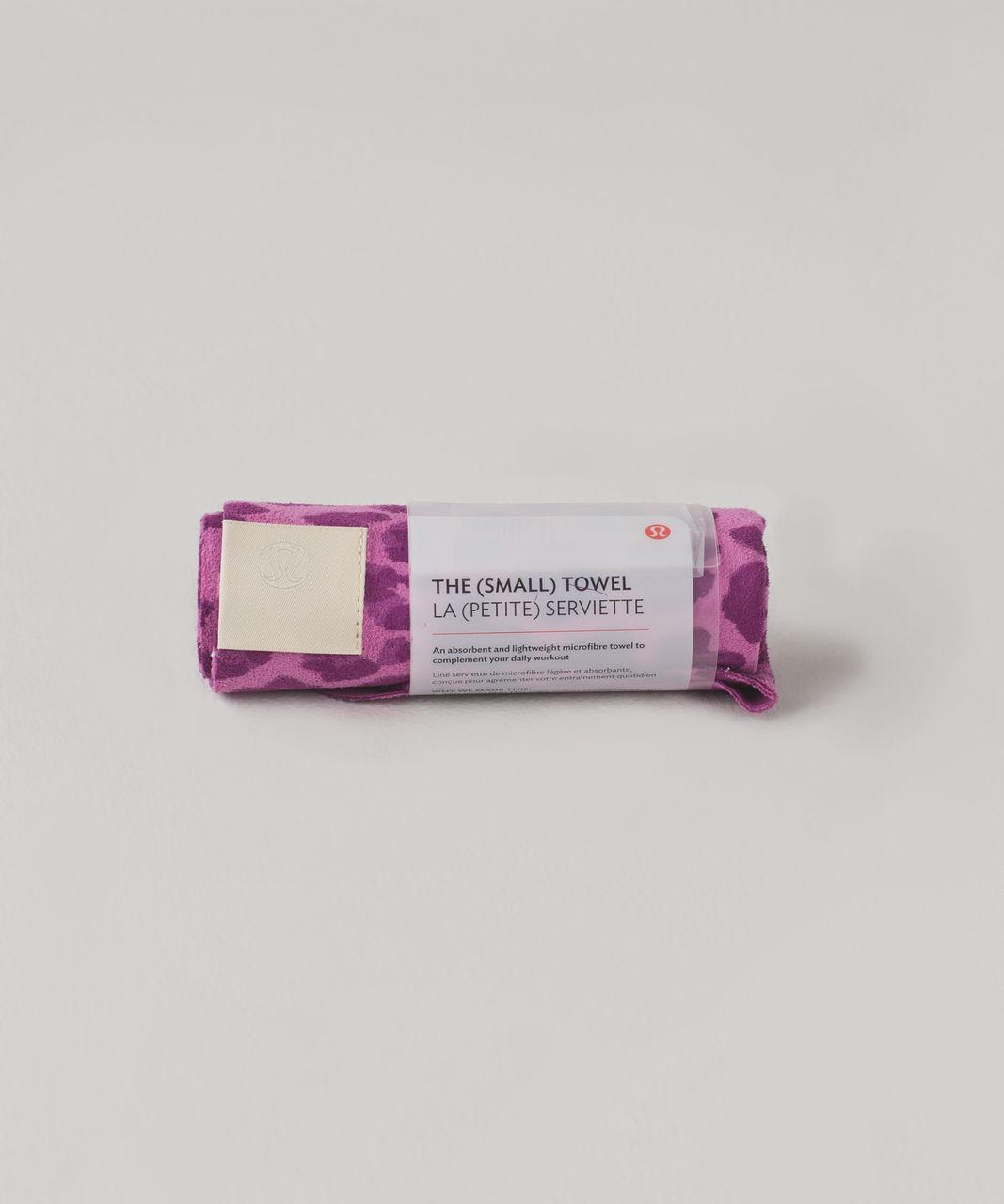 Lululemon The (Small) Towel - Mini Cherry Cheetah Mellow Magenta Ultra Violet