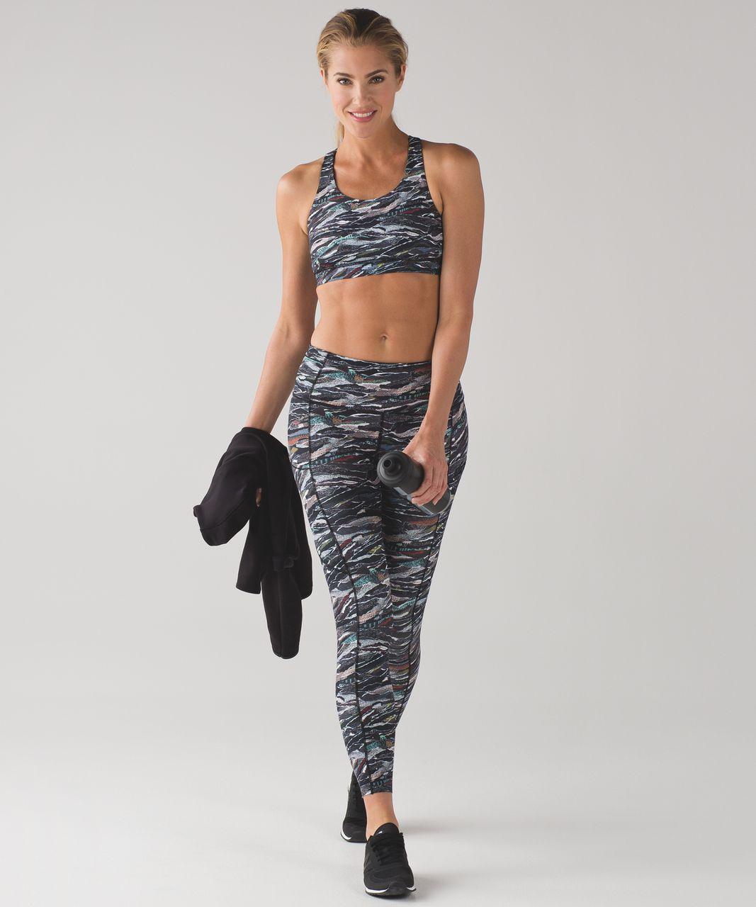 Lululemon Energy Bra (Nulux) - Mini Sweatr Multi Black