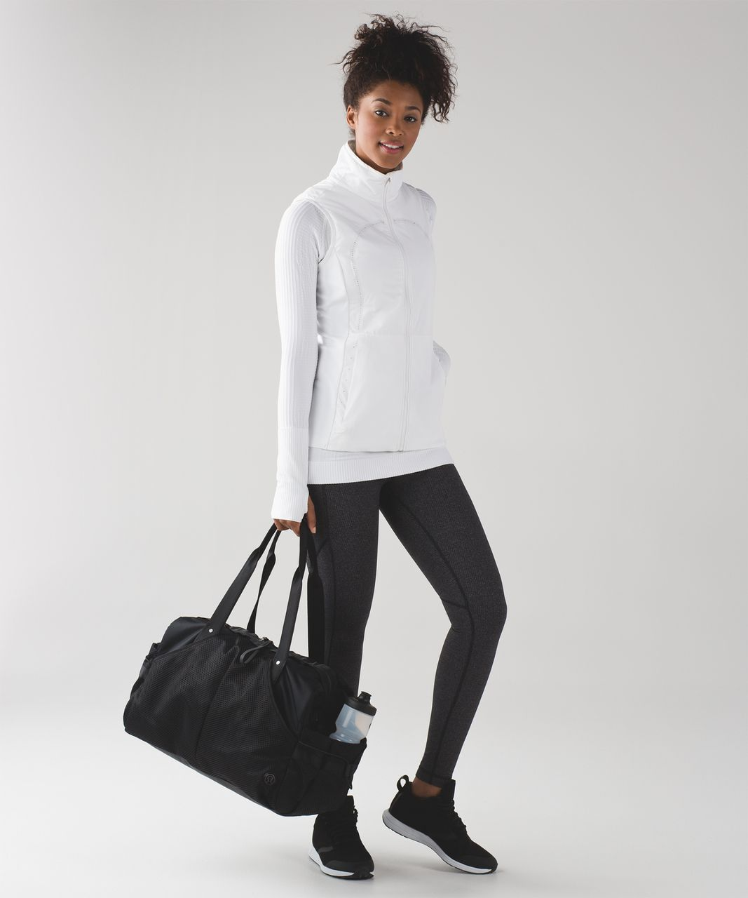 Lululemon Speed Tight V - Power Luxtreme Variegated Knit Black Heathered Black