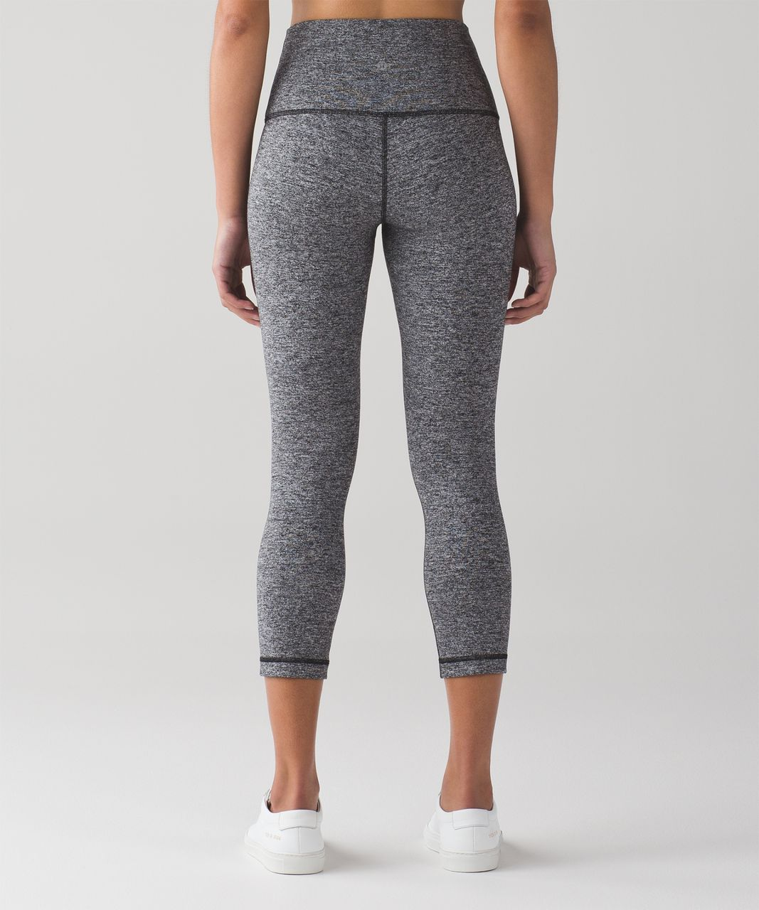 "Lululemon Wunder Under Crop (Hi-Rise) (21"") - Heathered Black (First Release)"