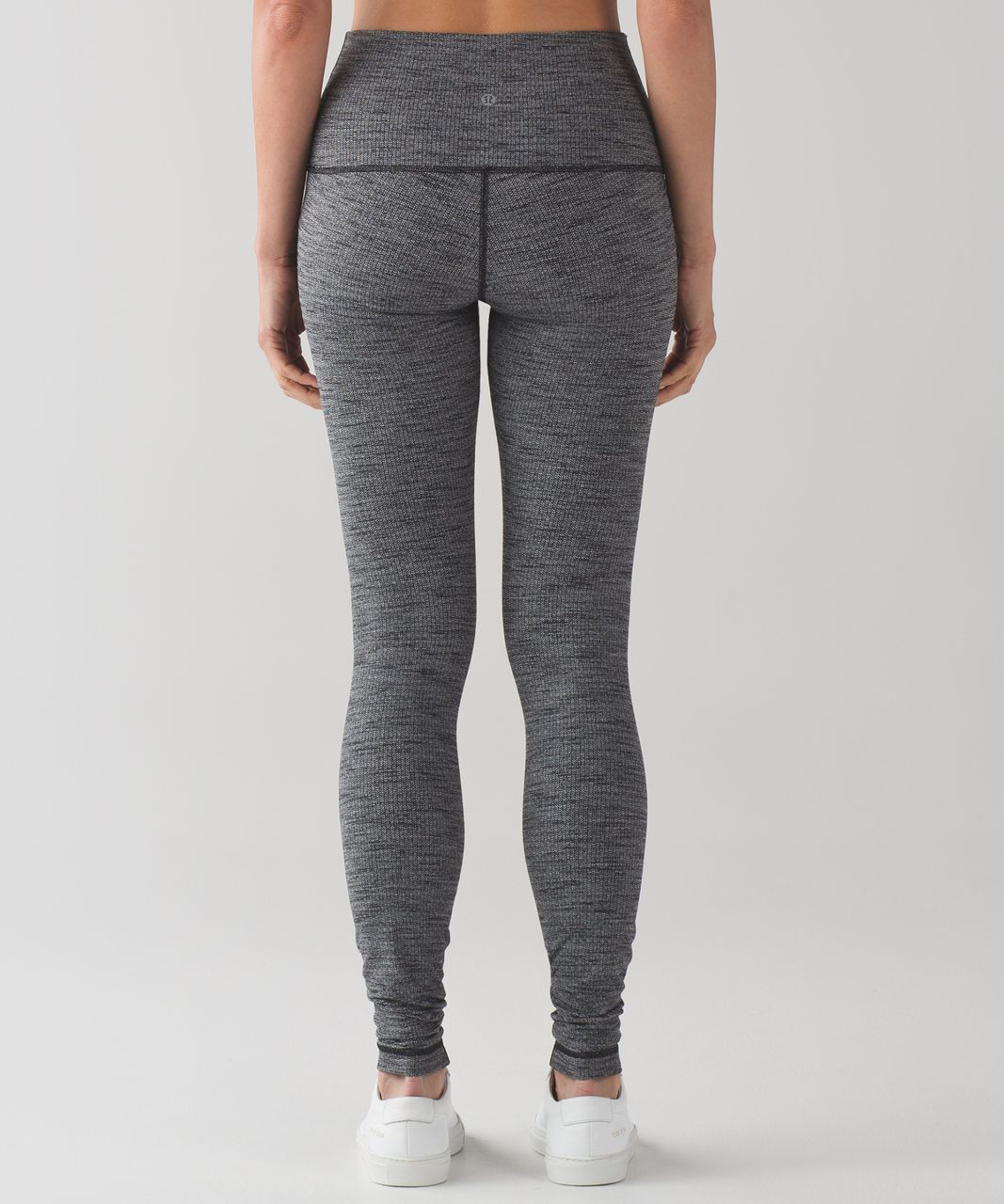 Lululemon Wunder Under Pant (Hi-Rise) - Luon Variegated Knit Black Heathered Black