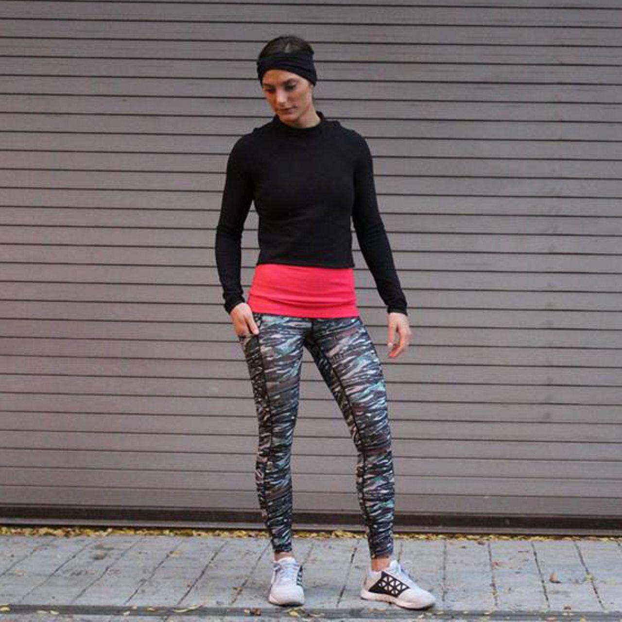 Lululemon Fast And Free 7/8 Tight - Mini Sweatr Multi Black