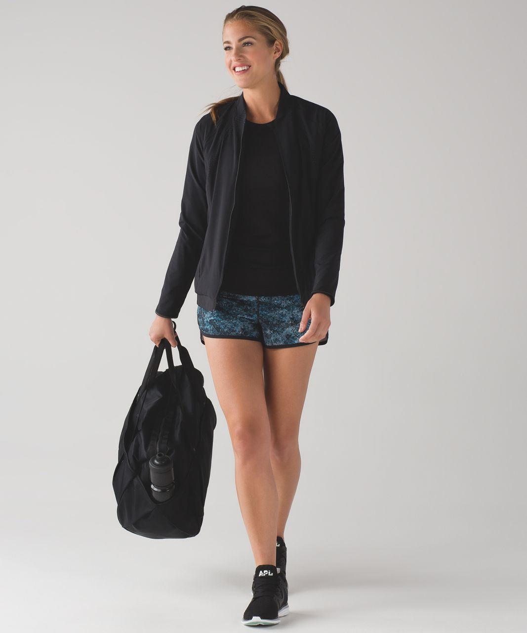 "Lululemon Speed Short (2 1/2"") - Fairisle Multi Black / Black"