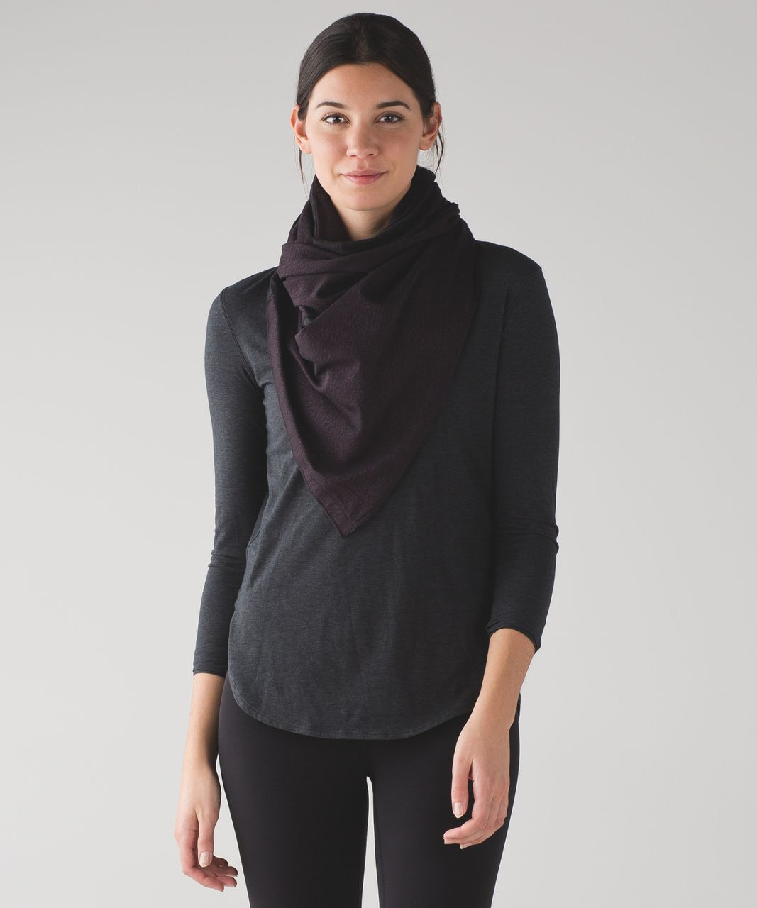Lululemon Vinyasa Wrap - Running Luon Spray Jacquard Black Cherry Black / Black