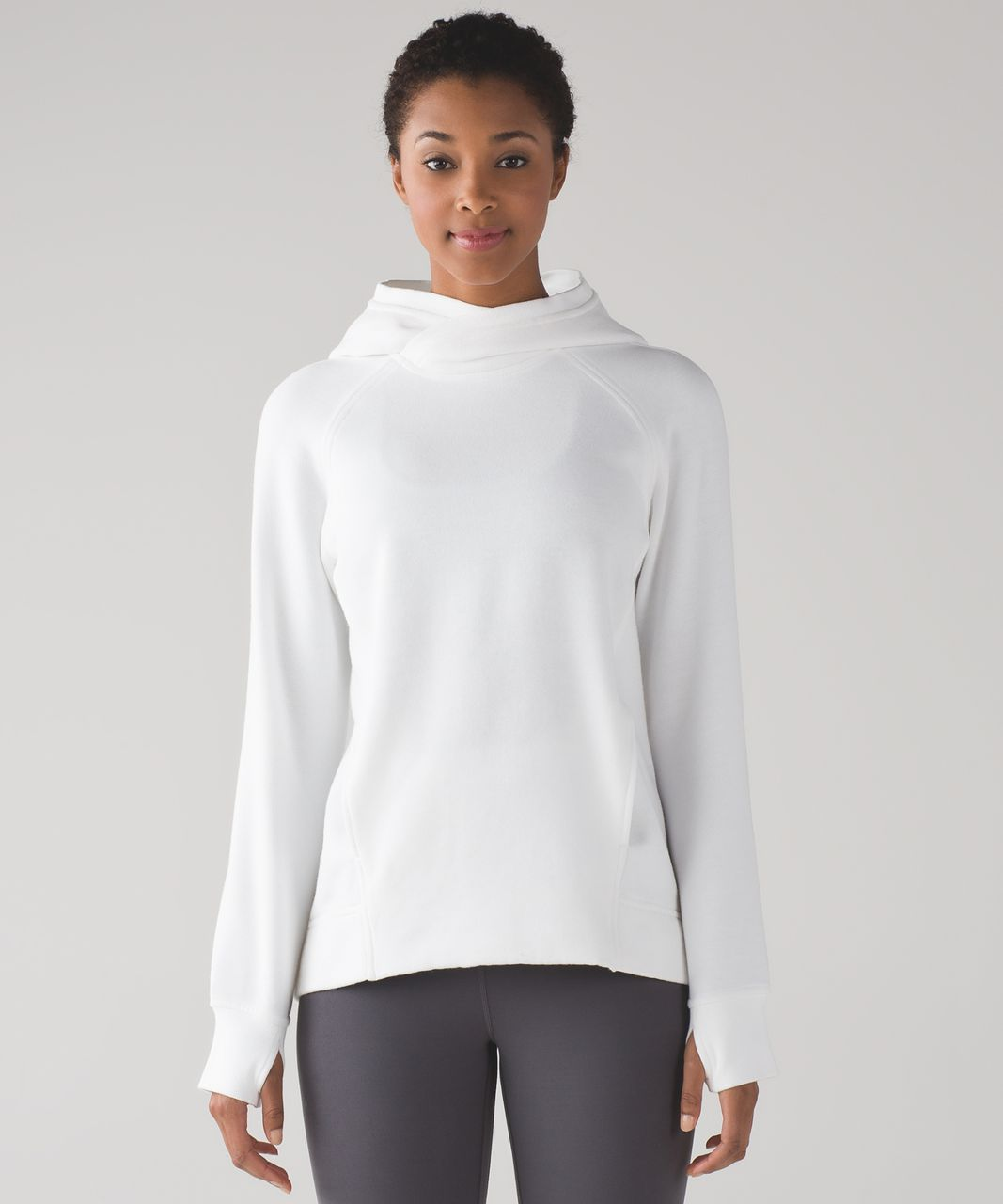 Lululemon Fleece Please Pullover - White - lulu fanatics