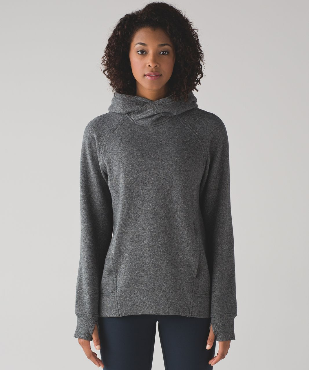 Lululemon Fleece Please Pullover - Heathered Speckled Black - lulu ...