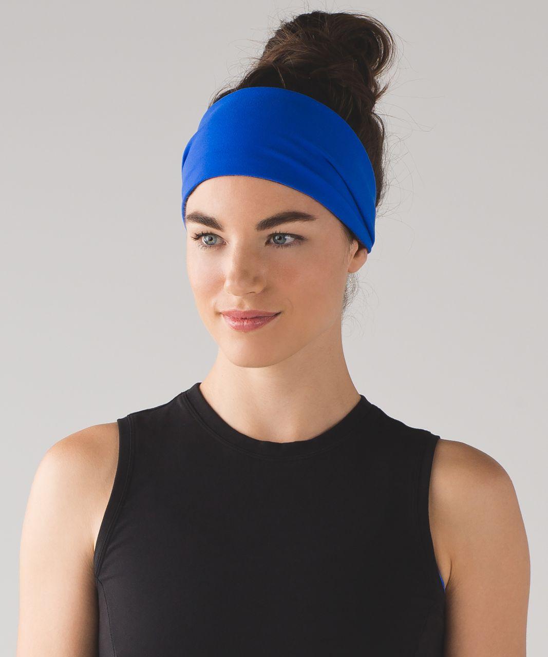 Lululemon Fringe Fighter Headband - Cerulean Blue / Heathered Black