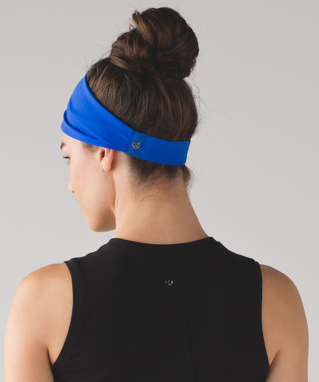 Lululemon Fringe Fighter Headband - Cerulean Blue / Heathered Black