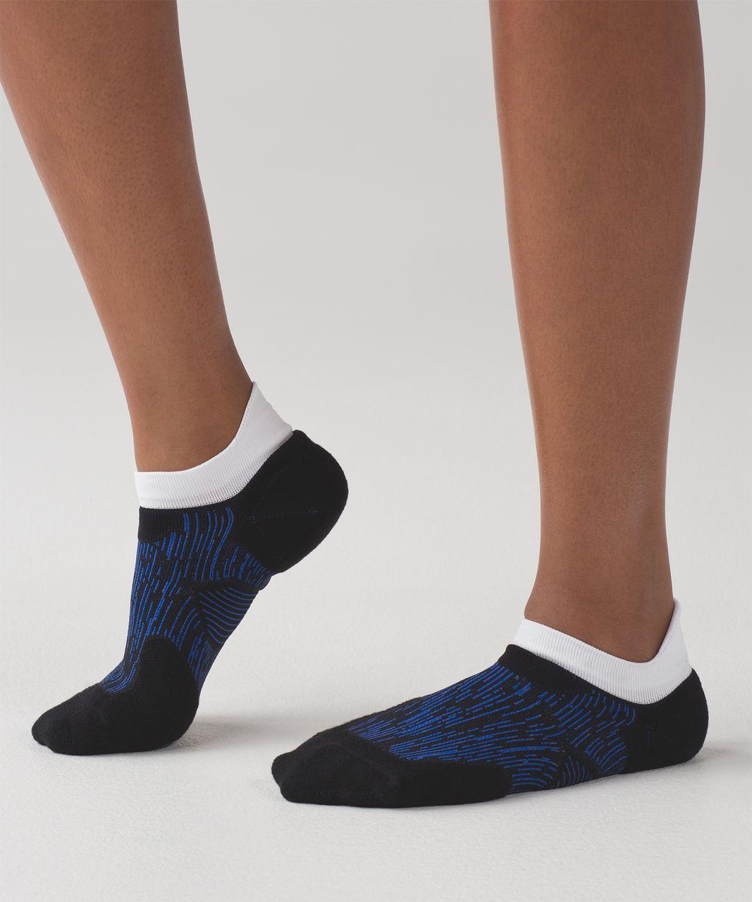 Lululemon High Speed Sock (Silver) - Cerulean Blue / Black / Indian Ocean