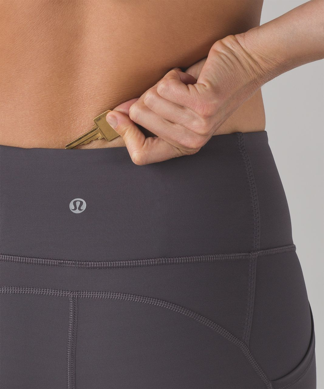 """Lululemon All The Right Places Crop II (23"""") - Dark Carbon"""