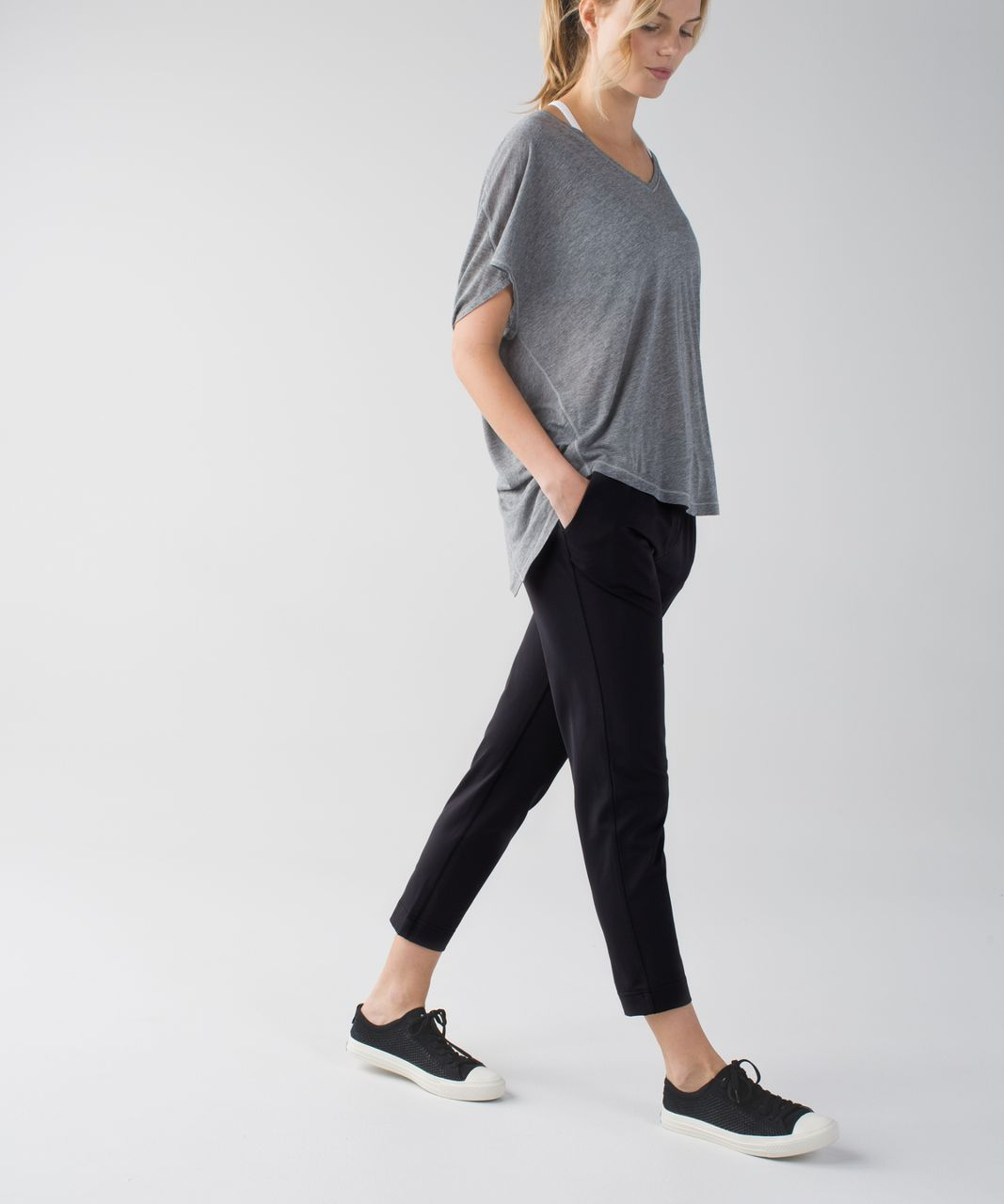 Lululemon Jet Crop (Slim) - Black / Lullaby