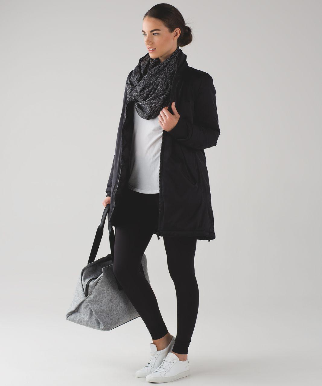 Lululemon Vinyasa Wrap - Running Luon Suited Jacquard Black White / Black