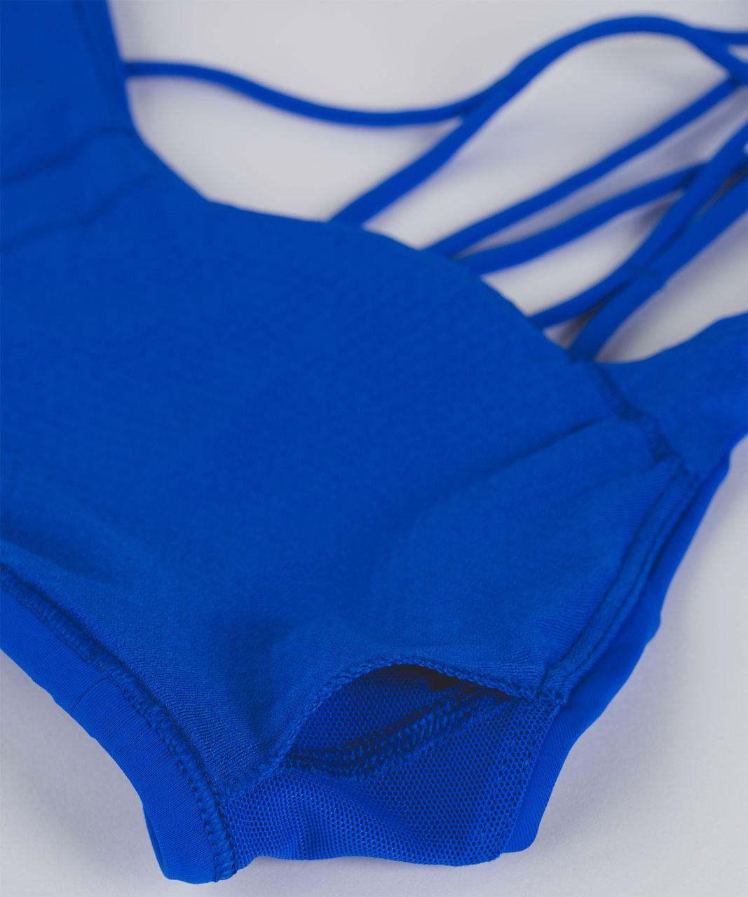 Lululemon Free To Be Zen Bra - Cerulean Blue