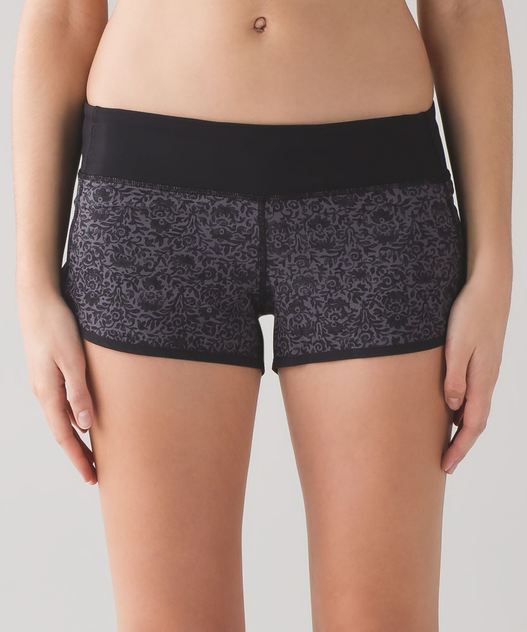 "Lululemon Speed Short (2 1/2"") - Flossy Dark Carbon Black / Black"