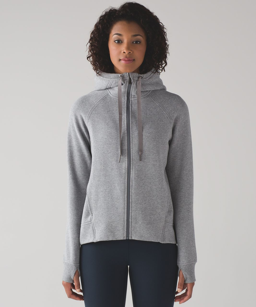 Lululemon Fleece Please Hoodie - Heathered Speckled Medium Grey ...