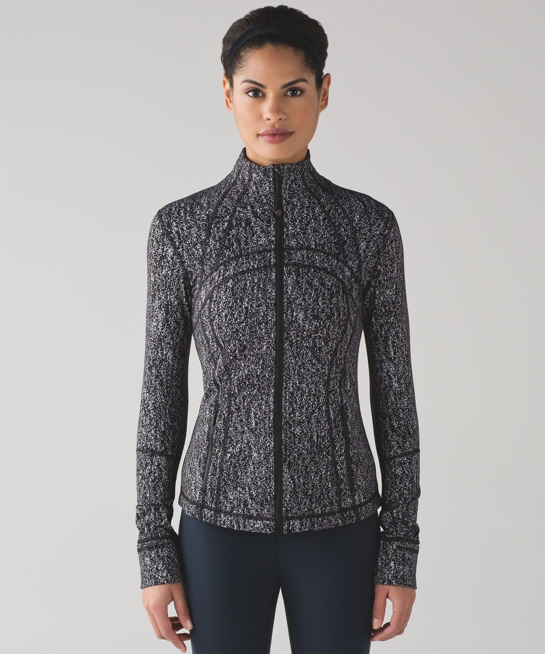 Lululemon Define Jacket - Luon Suited Jacquard Black White