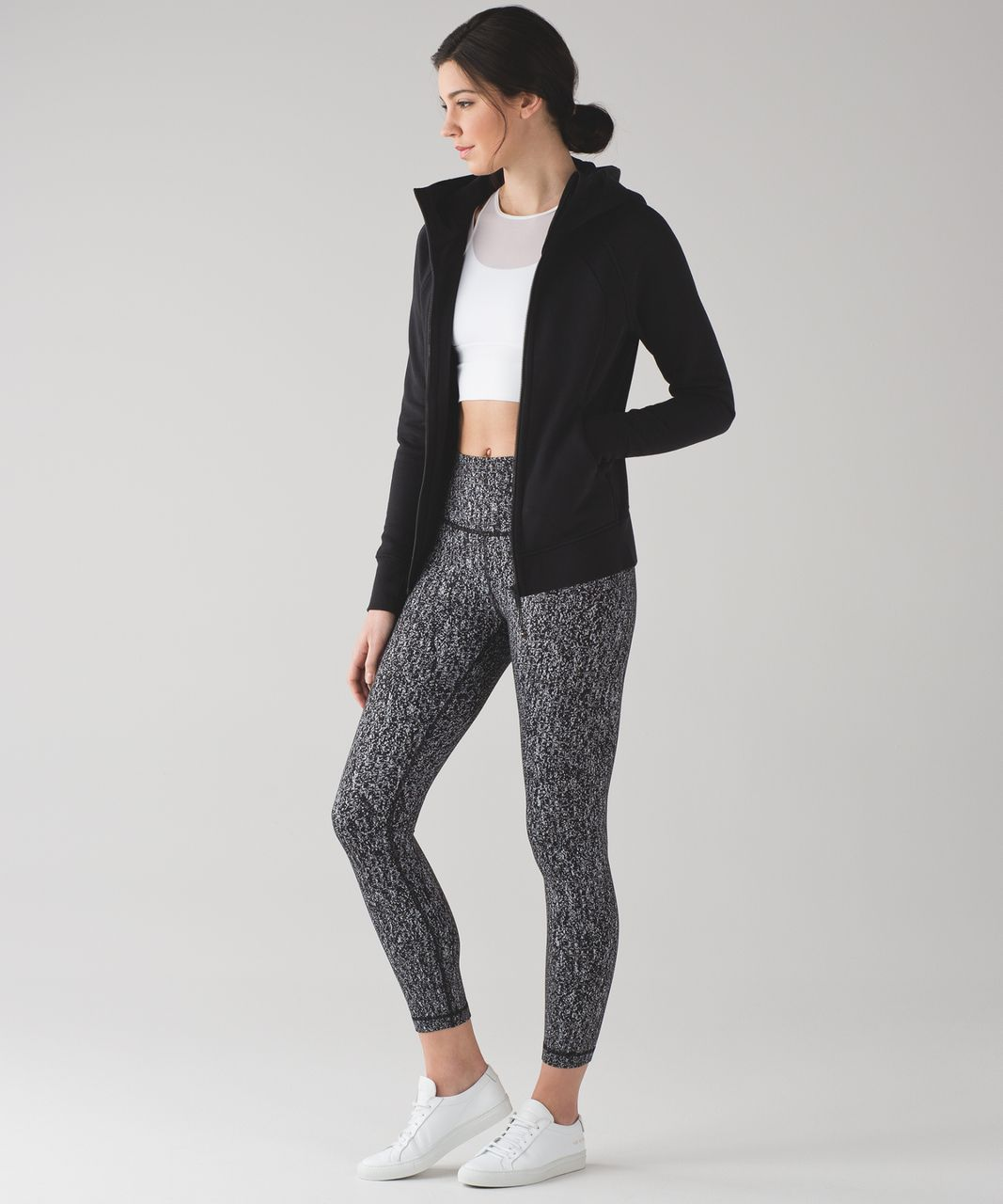 Lululemon High Times Pant - Luon Suited Jacquard Black White