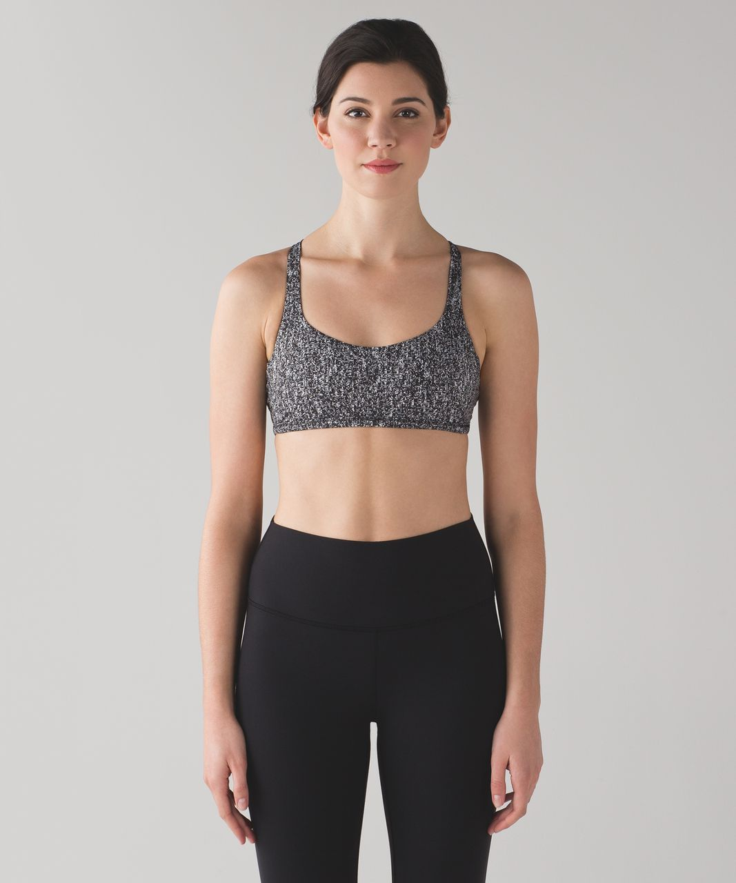 5806f309a0 Lululemon Free To Be Zen Bra - Power Luxtreme Suited Jacquard Black White