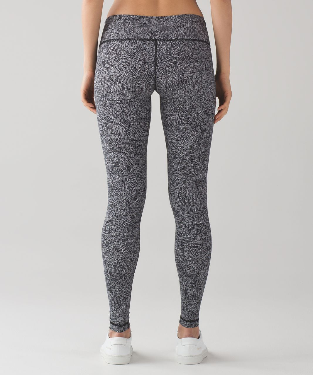 Lululemon Wunder Under Pant III - Line Up White Black