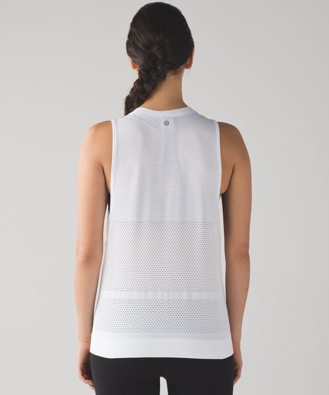f3895f383282b Lululemon Breeze By Muscle Tank - Heathered White - lulu fanatics