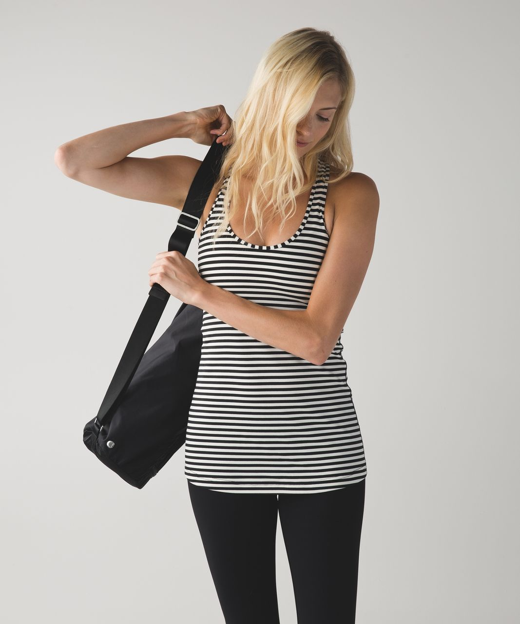 Lululemon Cool Racerback - Narrow Bold Stripe Black Angel Wing