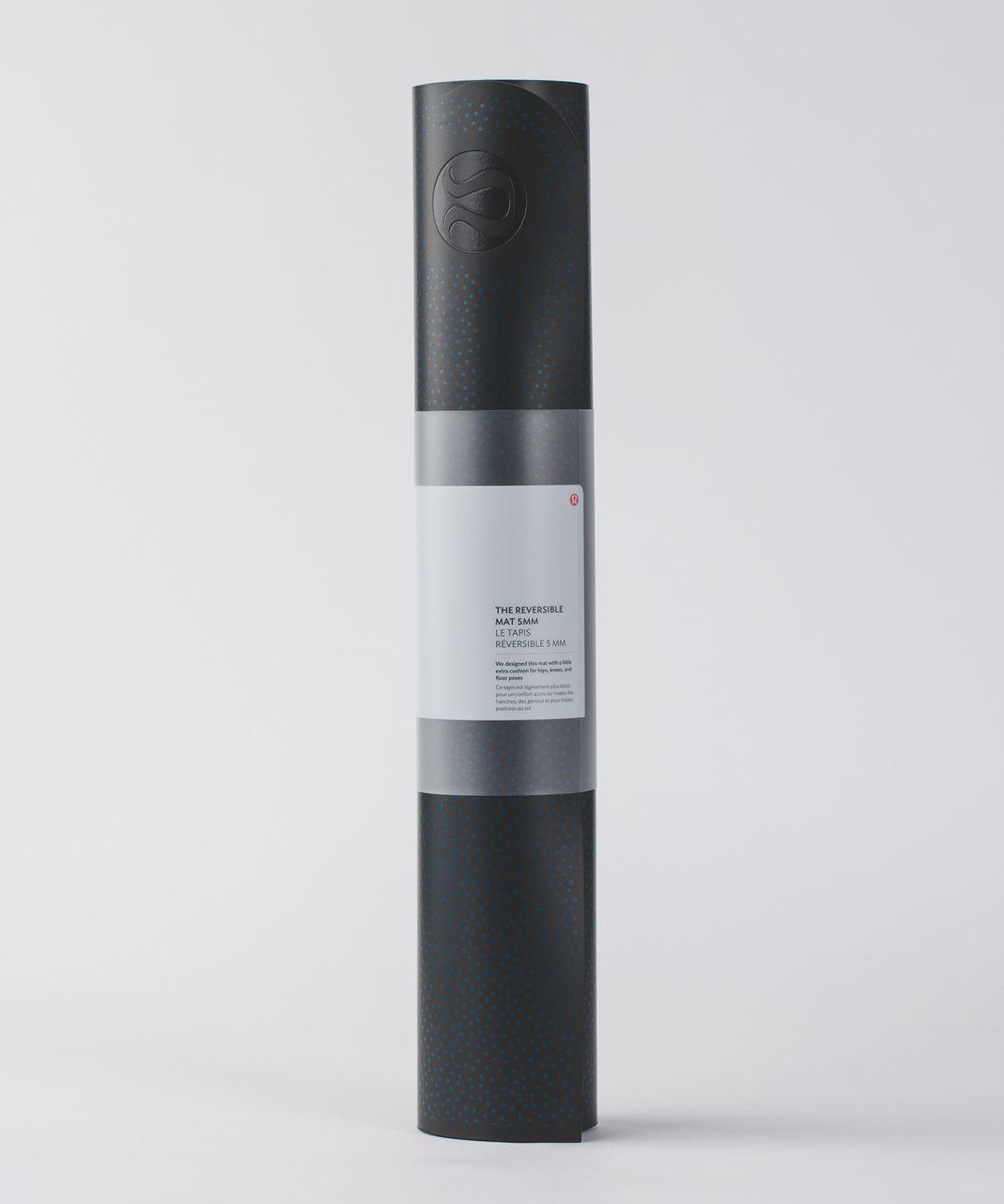 Lululemon The Reversible Mat 5mm - Frozen Fizz Capri Black / Capri