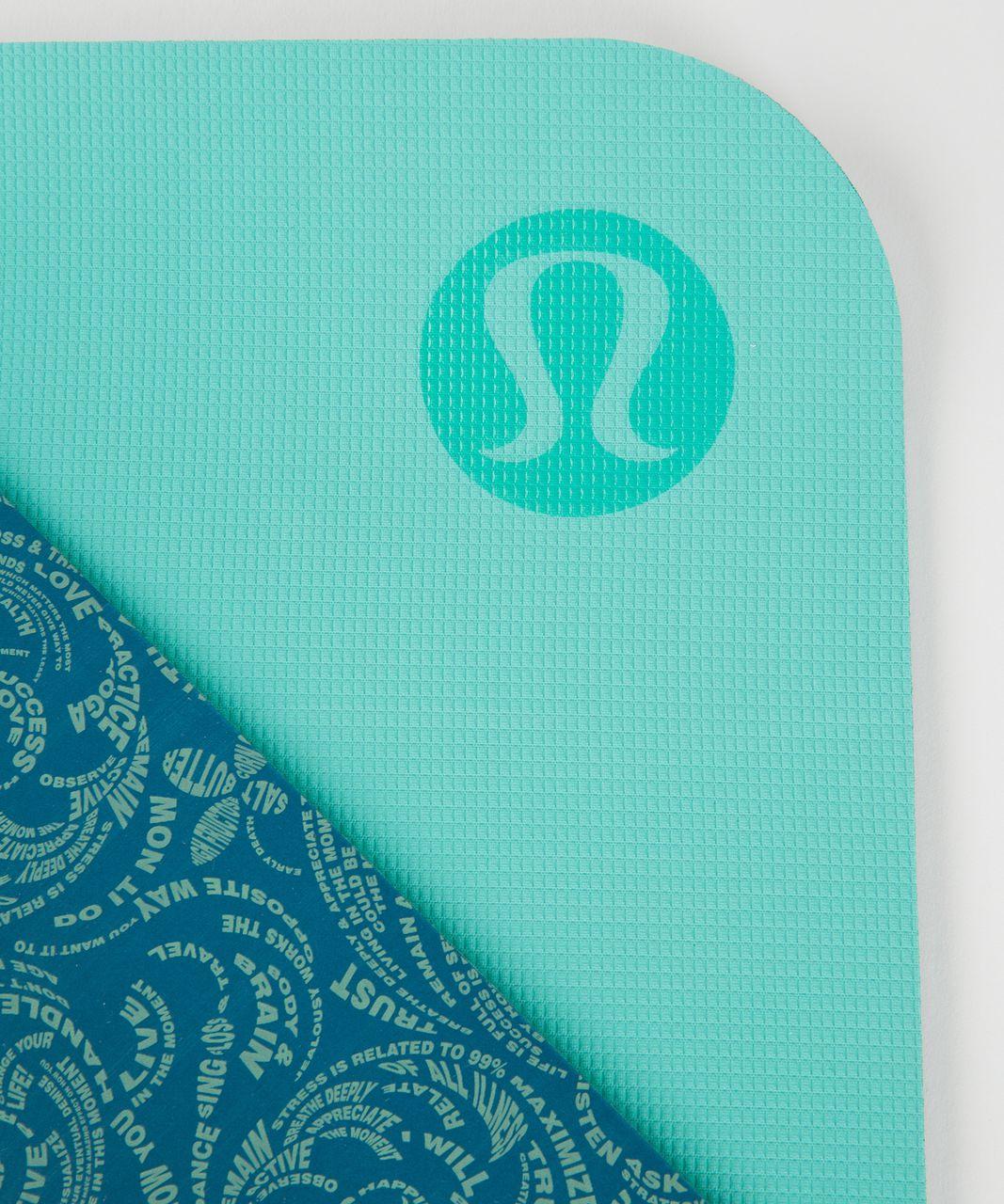 Lululemon The Reversible Mat 5mm - Maxi Foli Manifesto Tofino Teal Bali Breeze / Bali Breeze