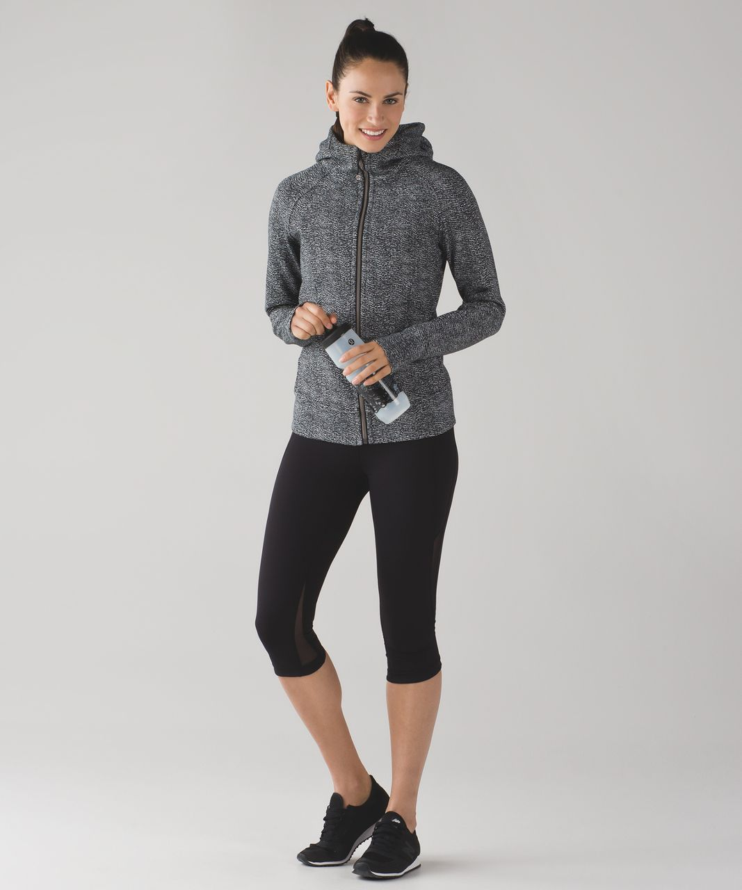 Lululemon Scuba Hoodie IV - Currents White Black / Black