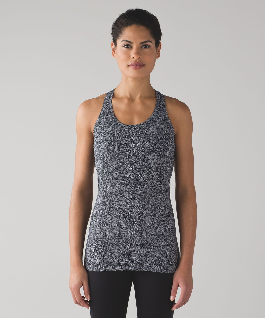 Lululemon Cool Racerback II - Line Up White Black
