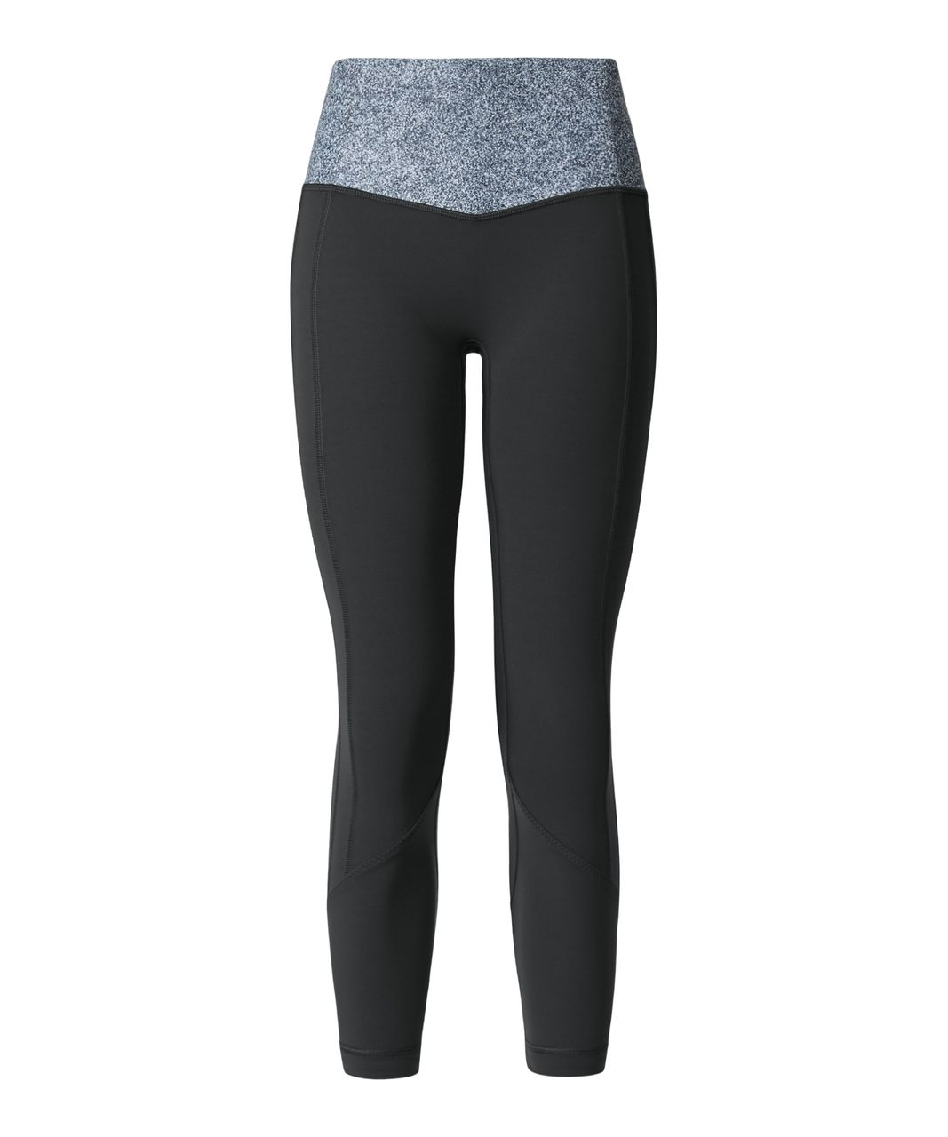 Lululemon All The Right Places Crop II - Deep Coal / Rio Mist White Black