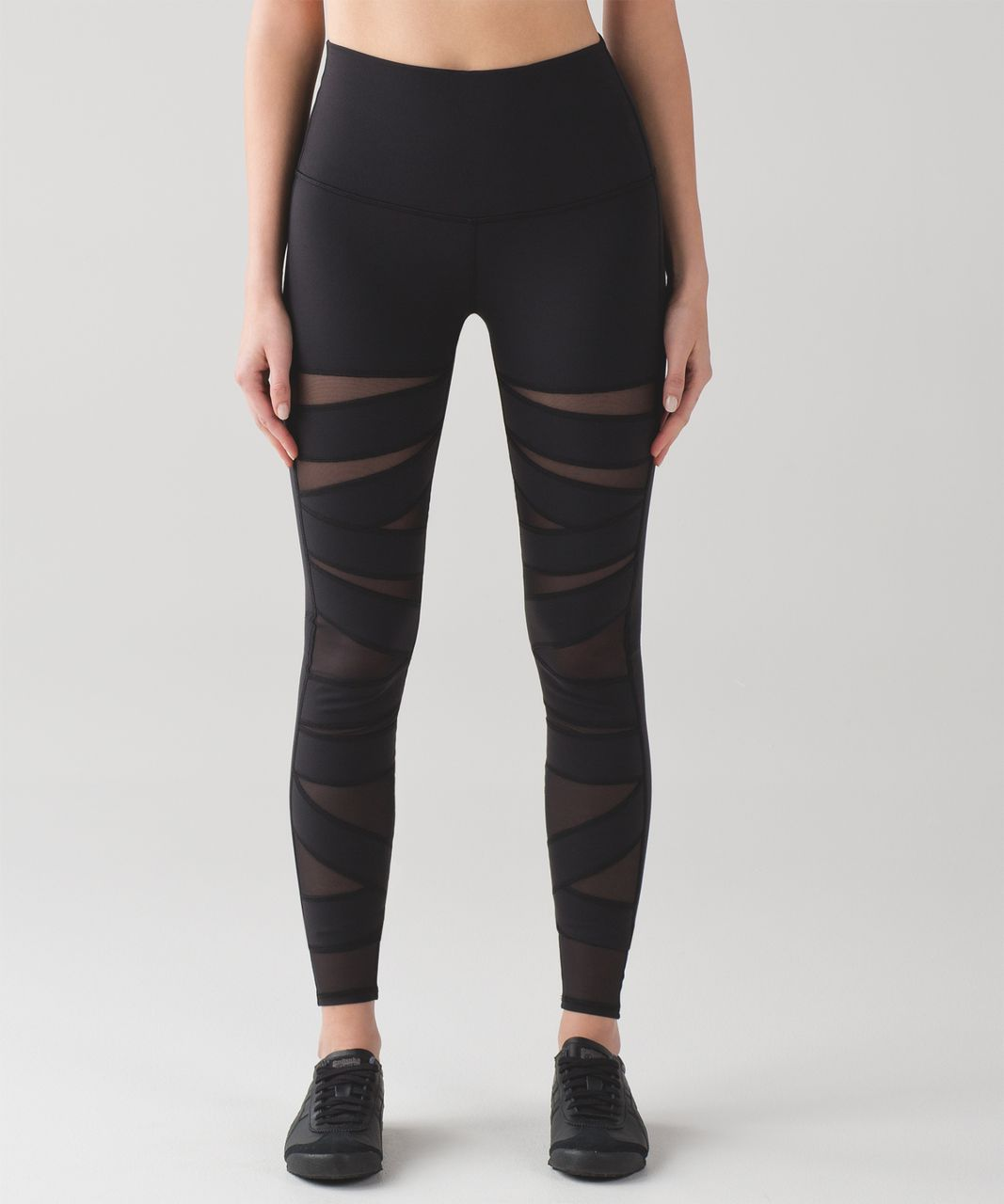 12188b3dd0546 Lululemon Wunder Under Pant (Hi-Rise) (Tech Mesh) - Black - lulu fanatics